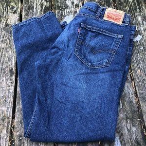 Levi Strauss 505 Men Jeans 38x30 Blue Stretch